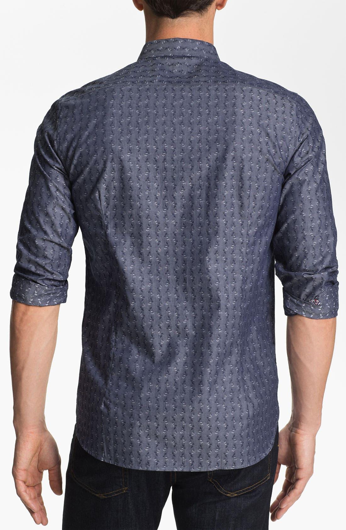 Alternate Image 2  - Ted Baker London 'Brillan' Jacquard Sport Shirt