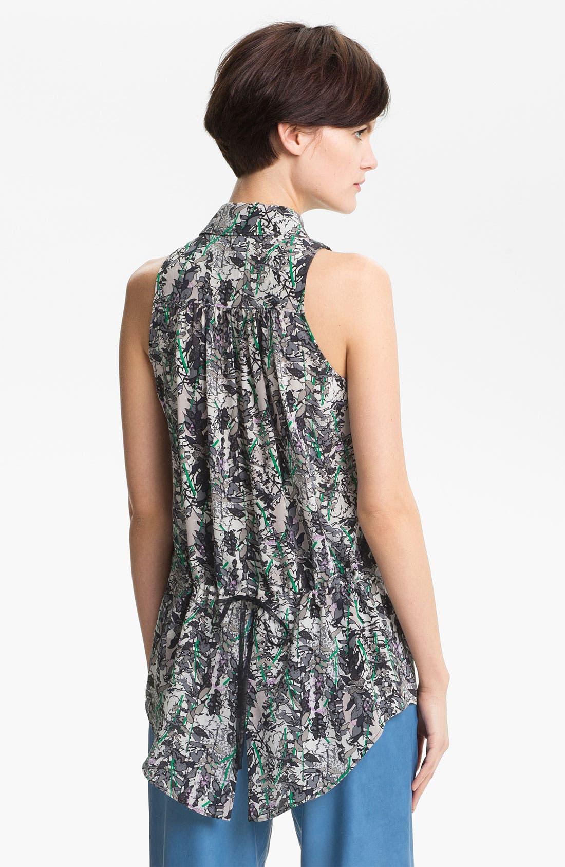 Alternate Image 3  - Tracy Reese Leaf Print Silk Shirt