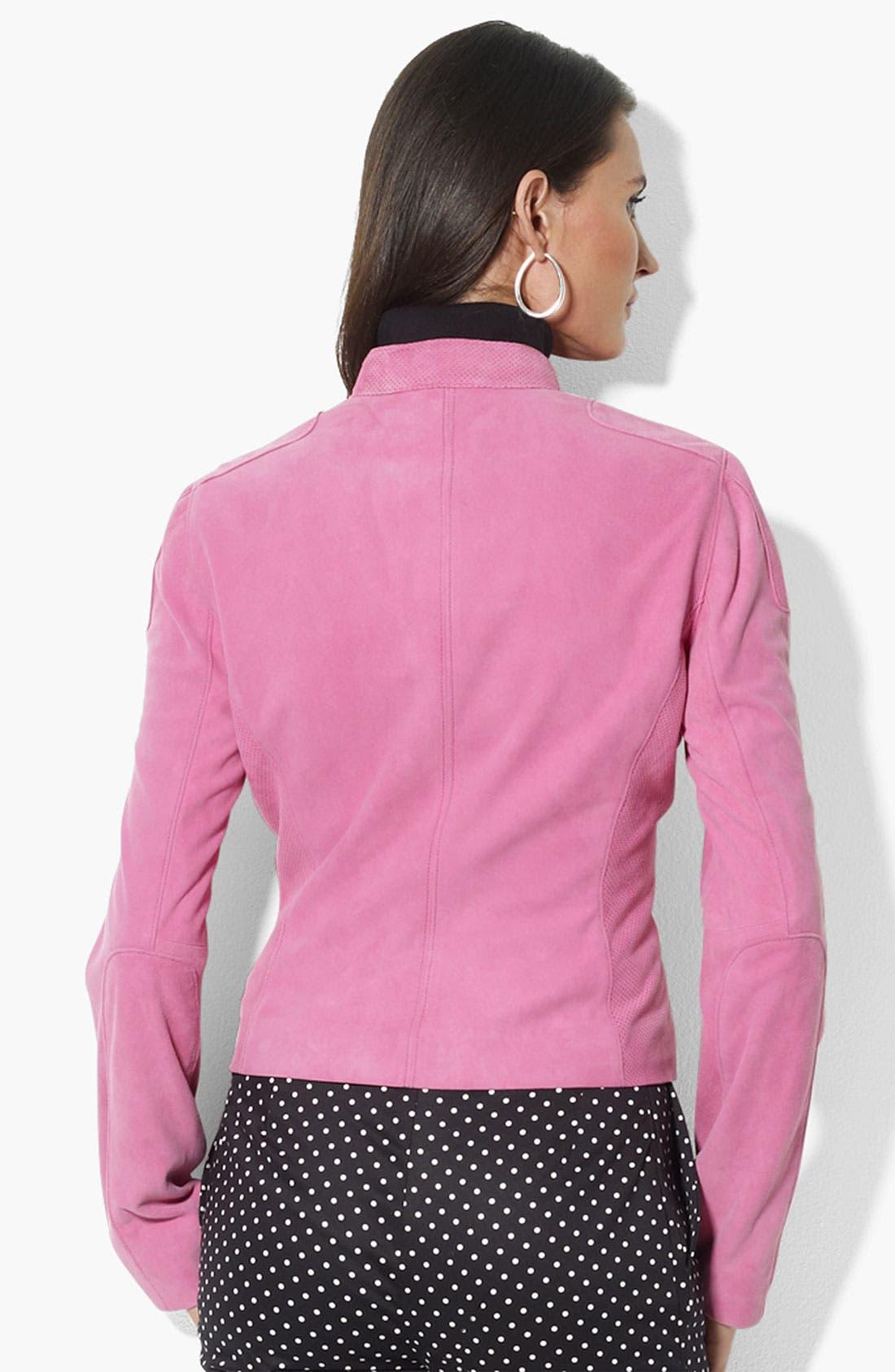 Alternate Image 2  - Lauren Ralph Lauren Suede Jacket