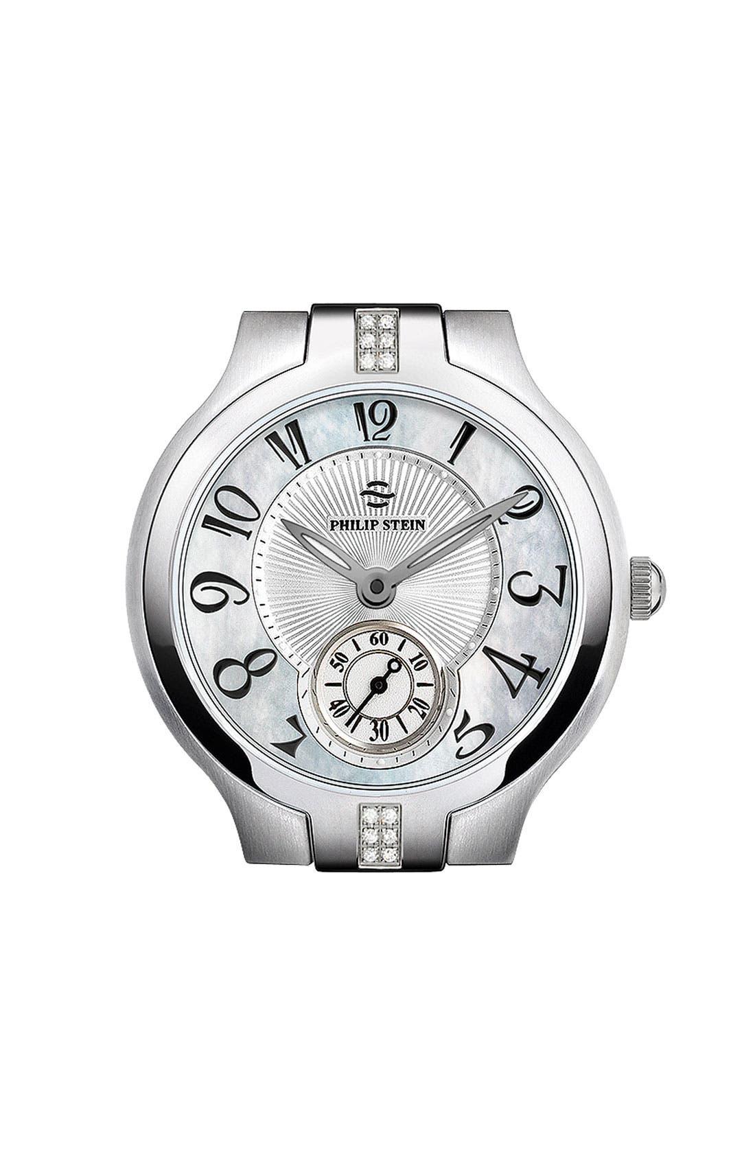 Alternate Image 1 Selected - Philip Stein® Round Diamond Watch Case, 35mm