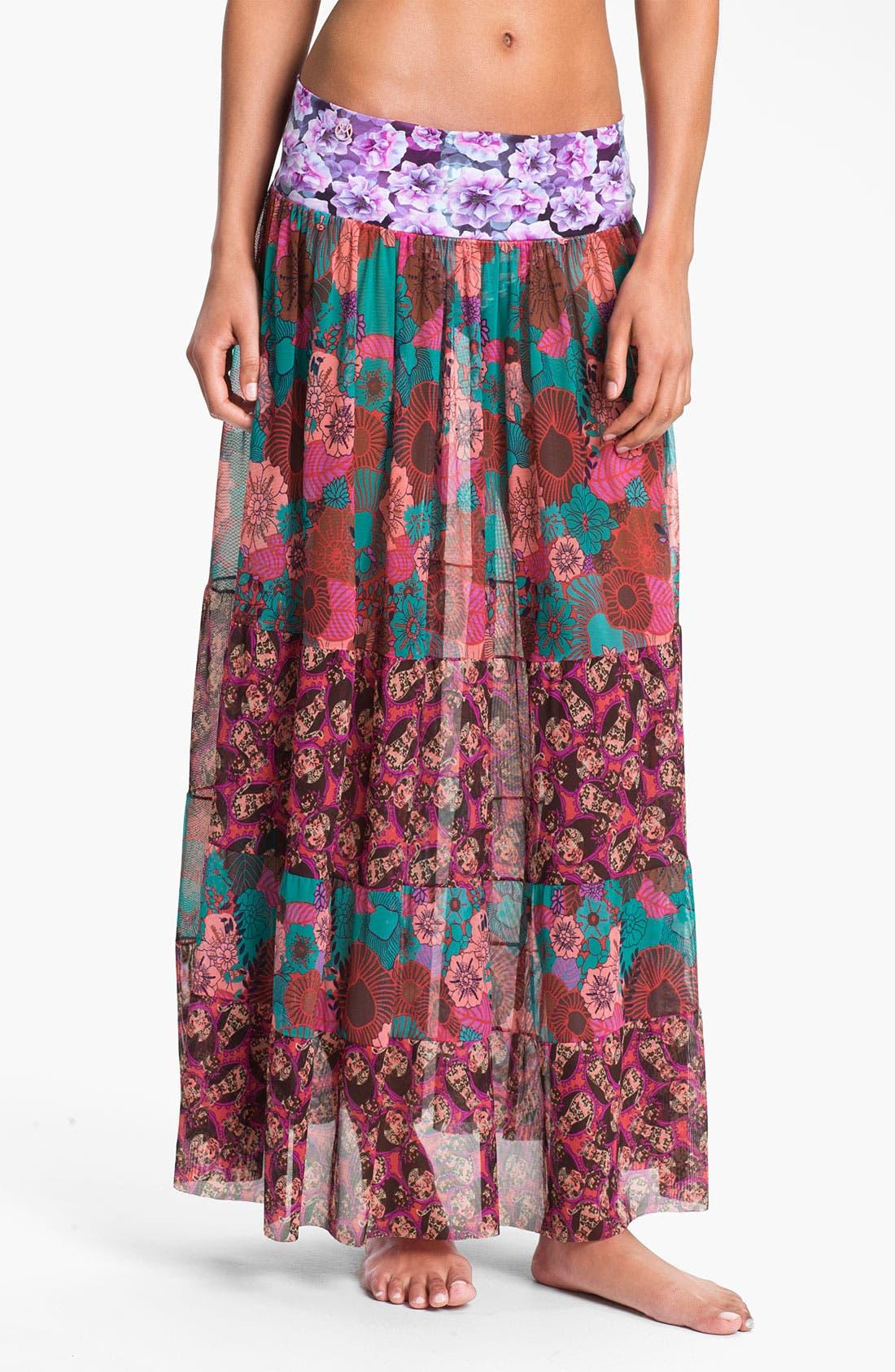 Main Image - Maaji 'Cherry Red Glory' Skirt Cover-Up