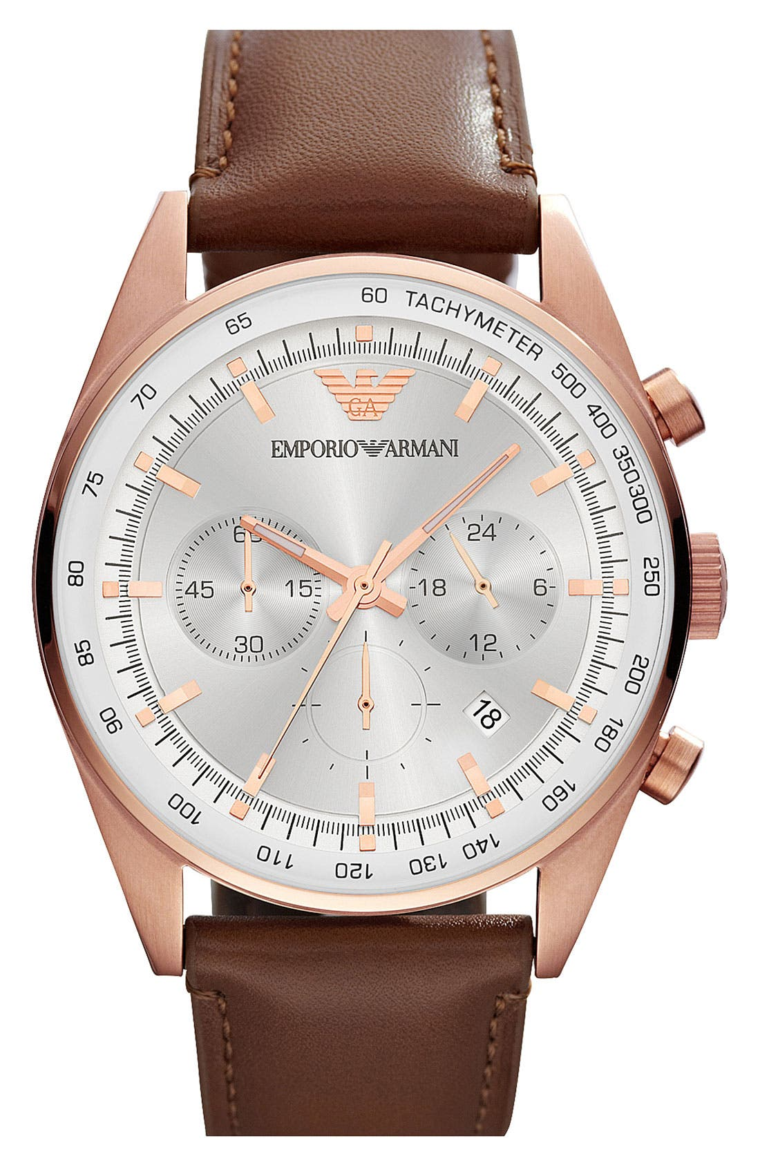 Alternate Image 1 Selected - Emporio Armani Chronograph Watch, 43mm