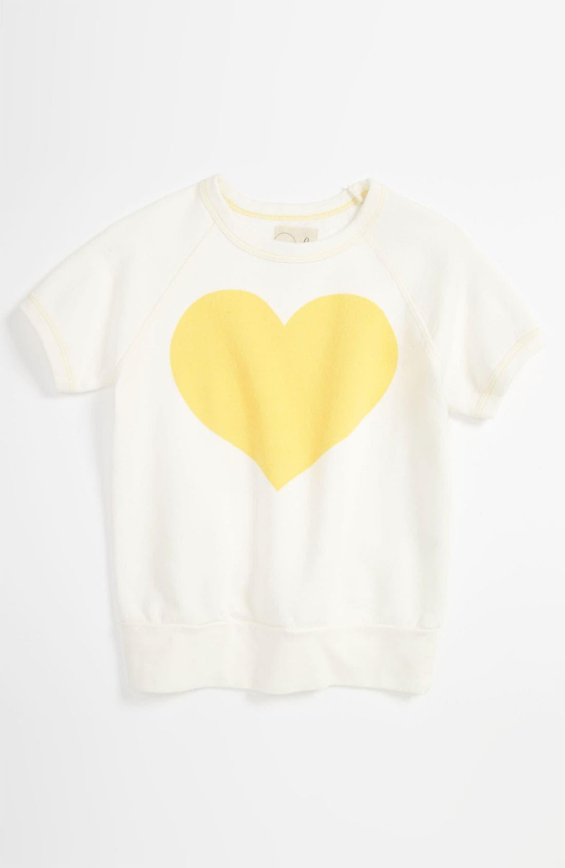 Main Image - Peek 'Heart' Crewneck Sweatshirt (Toddler, Little Girls & Big Girls)