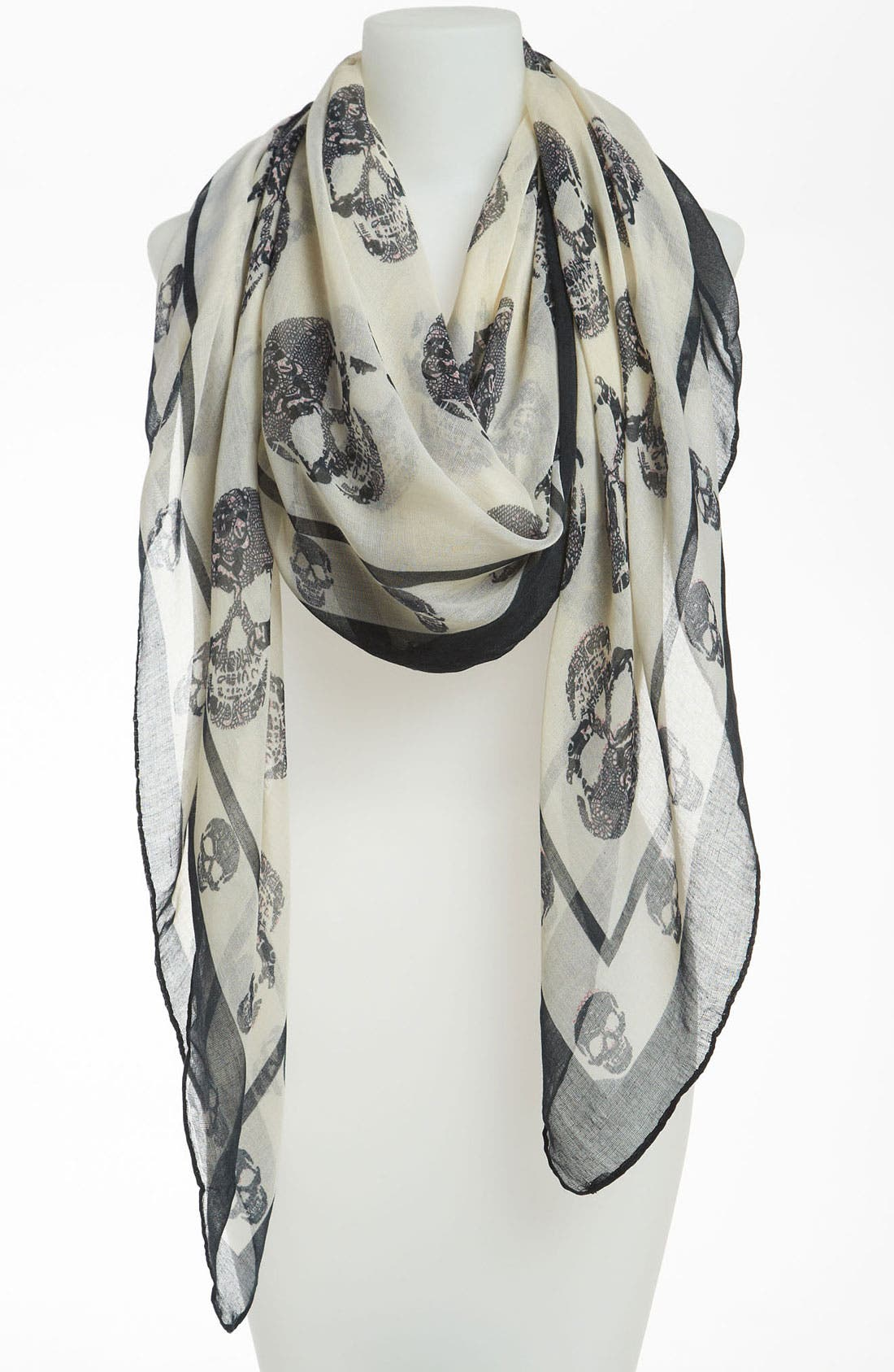 Alternate Image 1 Selected - David & Young Skull Print Scarf