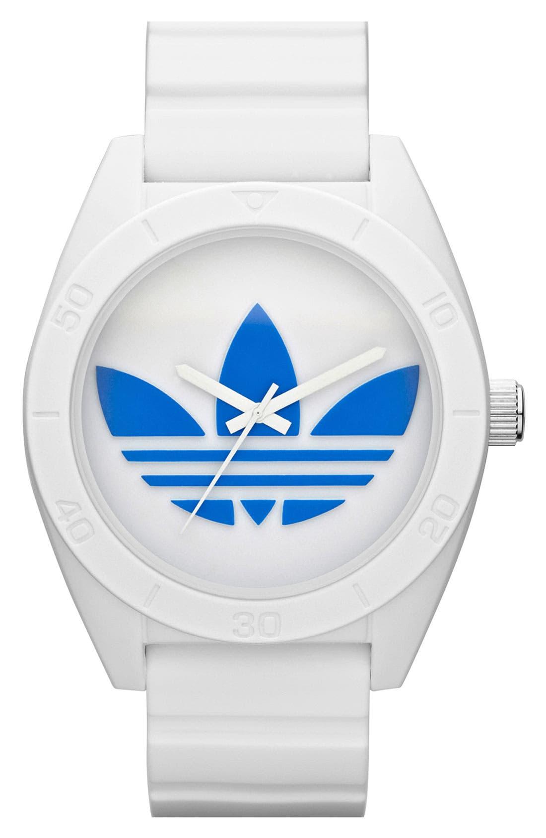 Alternate Image 1 Selected - adidas Originals 'Santiago XL' Silicone Strap Watch, 50mm