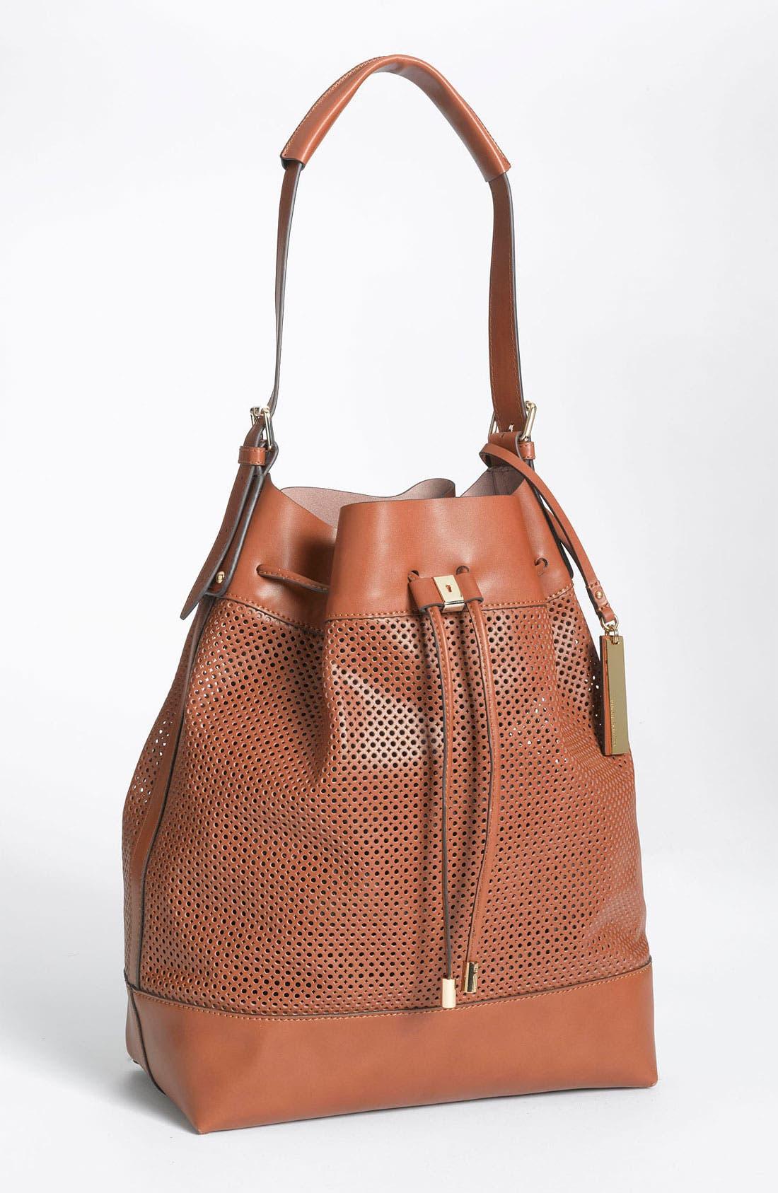 Main Image - Vince Camuto Perforated Drawstring Shoulder Bag
