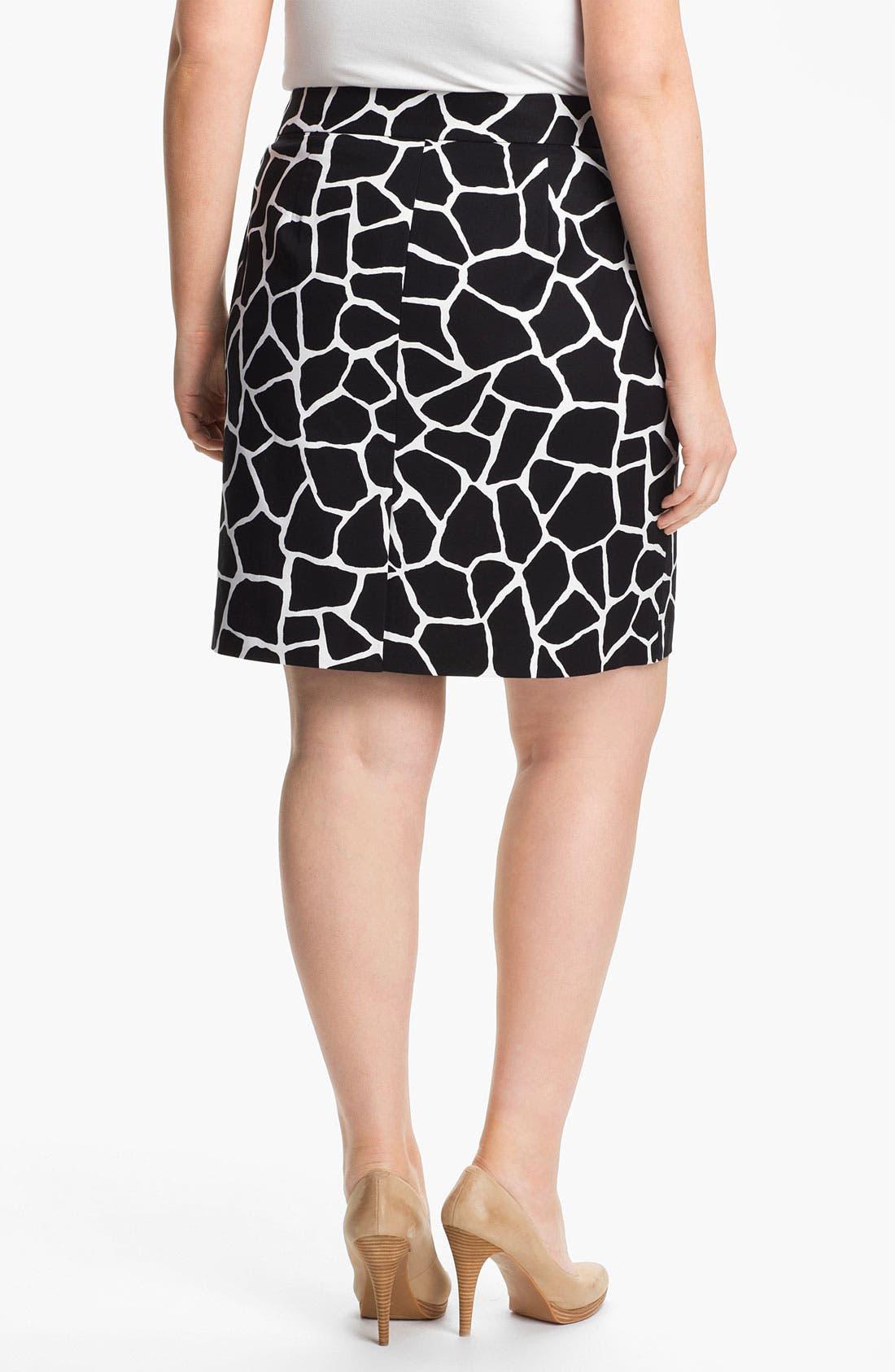 Alternate Image 2  - MICHAEL Michael Kors Giraffe Print Pencil Skirt (Plus)