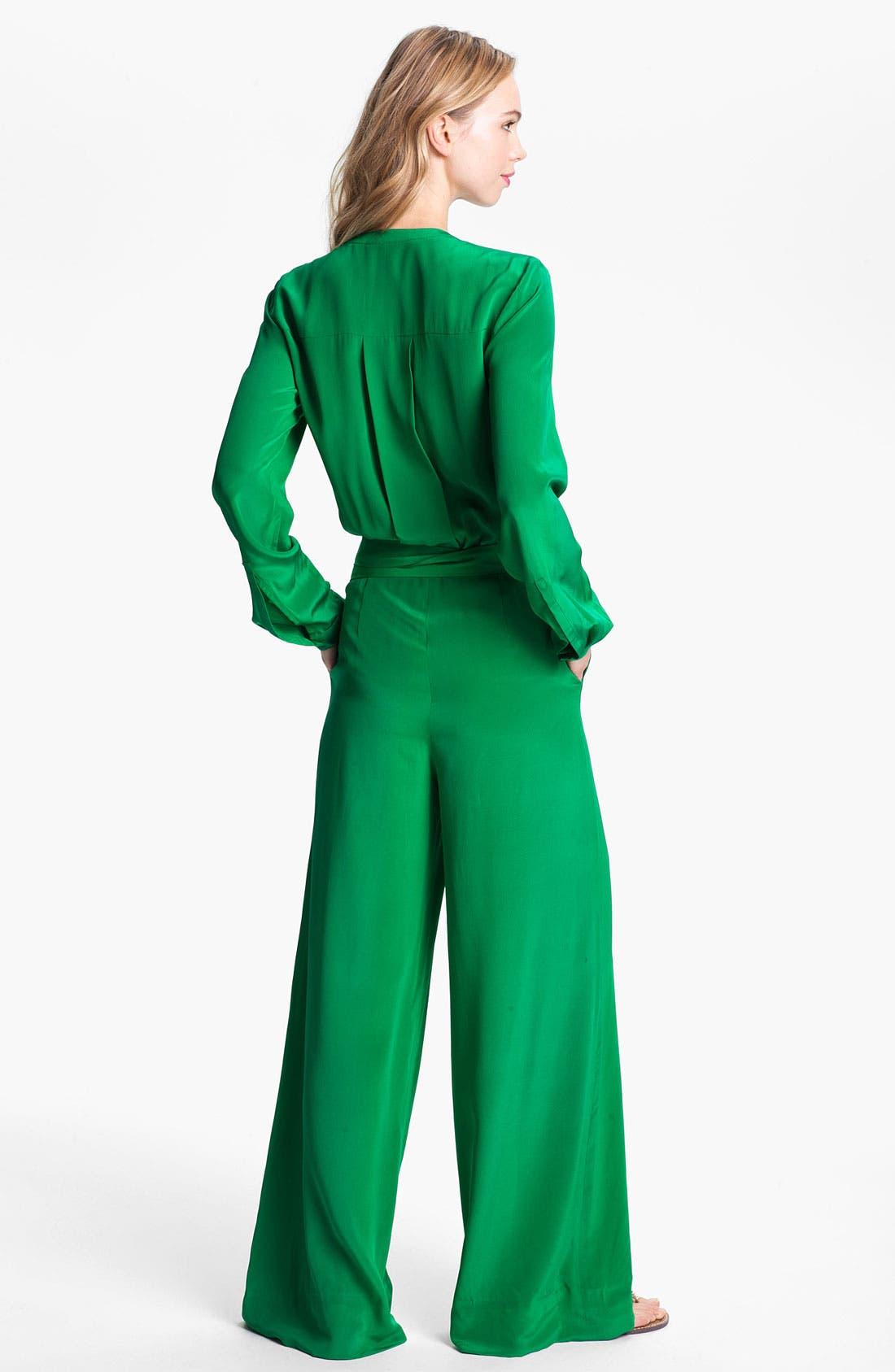 Alternate Image 2  - Rachel Roy Silk Jumpsuit