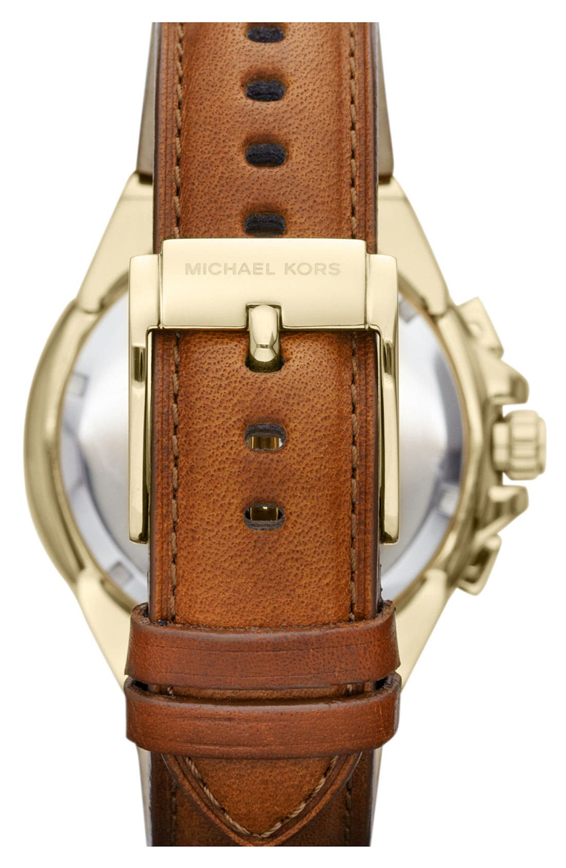 Alternate Image 3  - Michael Kors 'Camille' Chronograph Leather Strap Watch