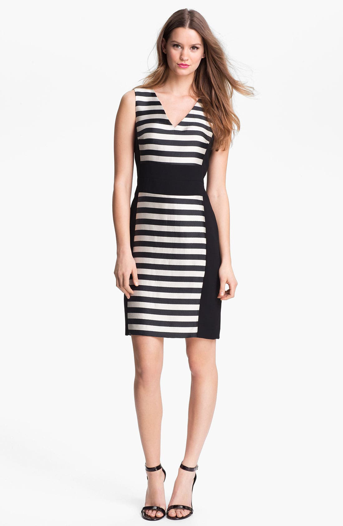 Alternate Image 1 Selected - Kenneth Cole New York 'Marcie' Bold Stripe Sheath Dress