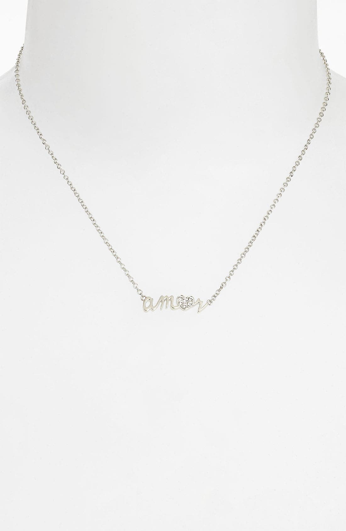 Alternate Image 2  - Ariella Collection 'Messages - Amor' Script Pendant Necklace
