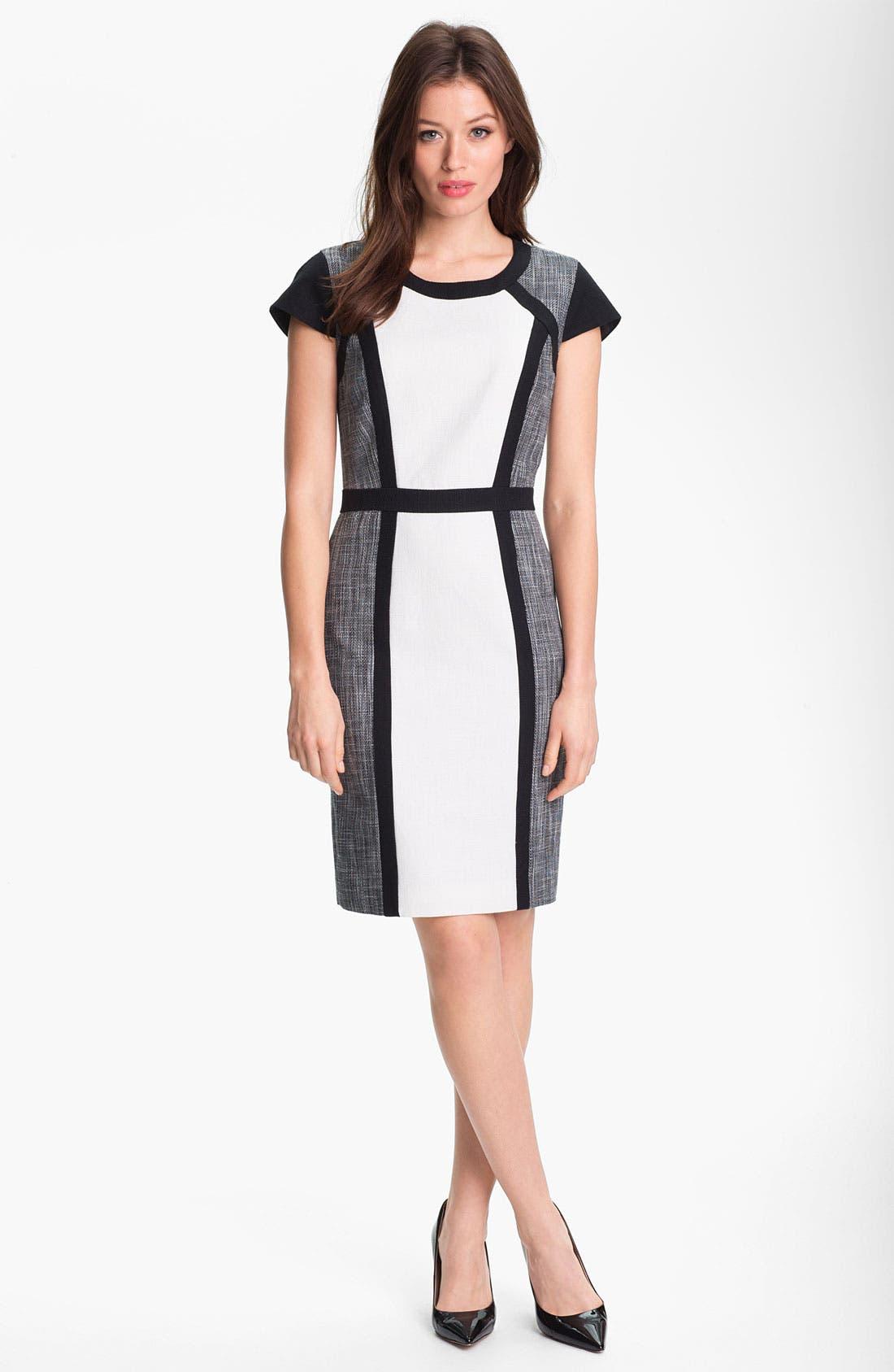 Alternate Image 1 Selected - Calvin Klein Colorblock Panel Dress