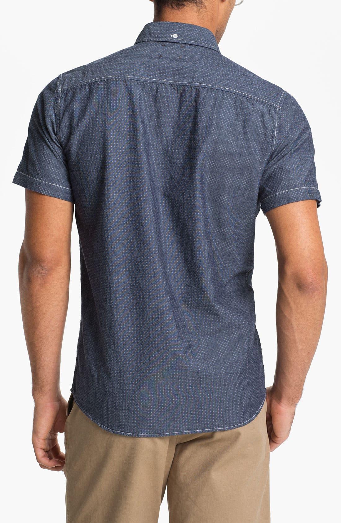 Alternate Image 2  - AG Jeans Slim Fit Short Sleeve Sport Shirt
