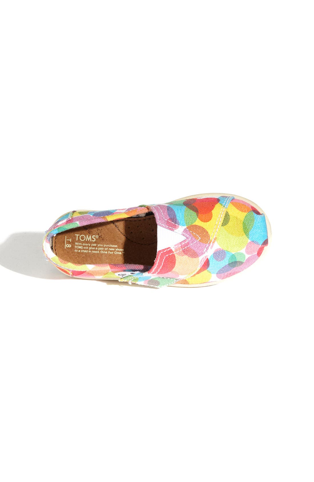 Alternate Image 3  - TOMS 'Classic Tiny - Clea' Slip-On (Baby, Walker & Toddler)