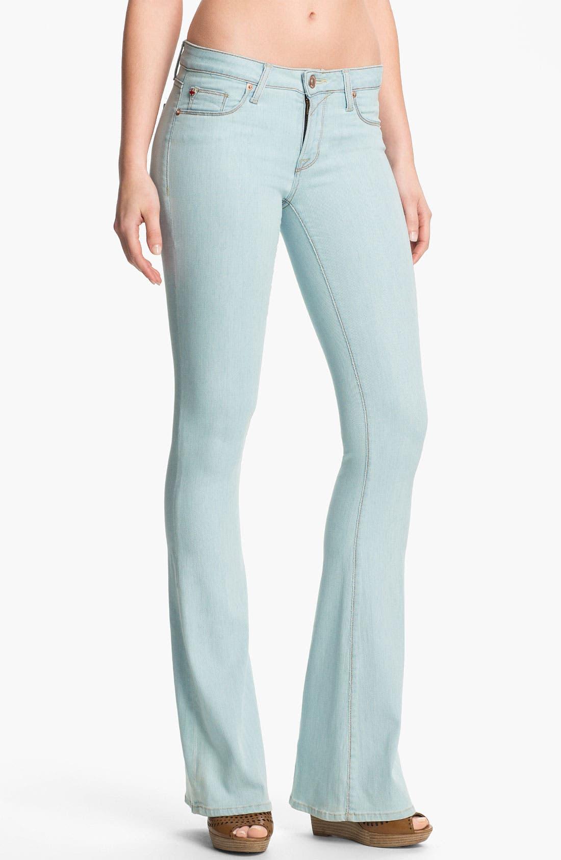 Alternate Image 1 Selected - Hudson Jeans Flare Leg Jeans (Dahlia)