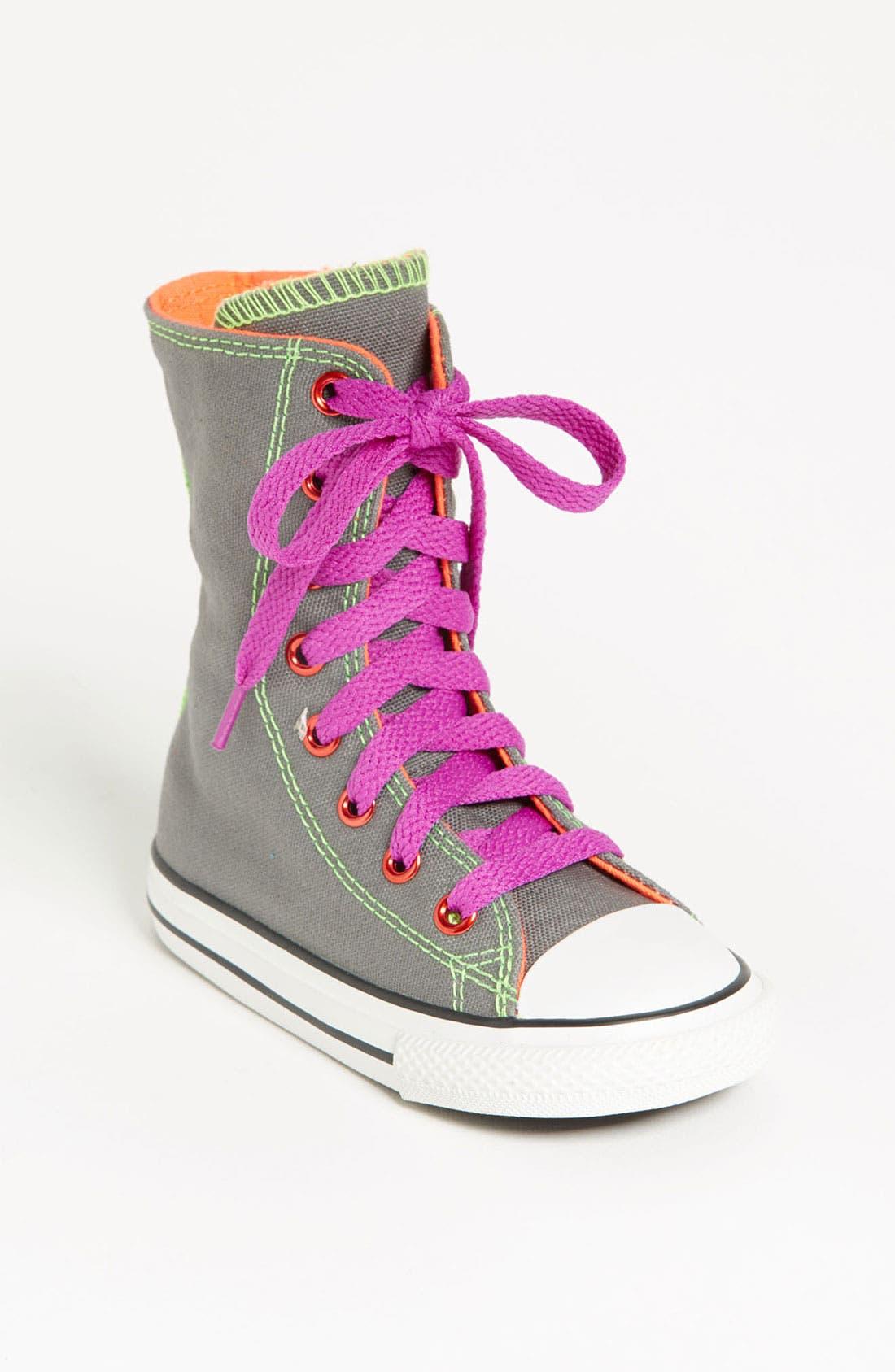Main Image - Converse Chuck Taylor® All Star® 'Neon X-HI' Sneaker (Walker & Toddler)