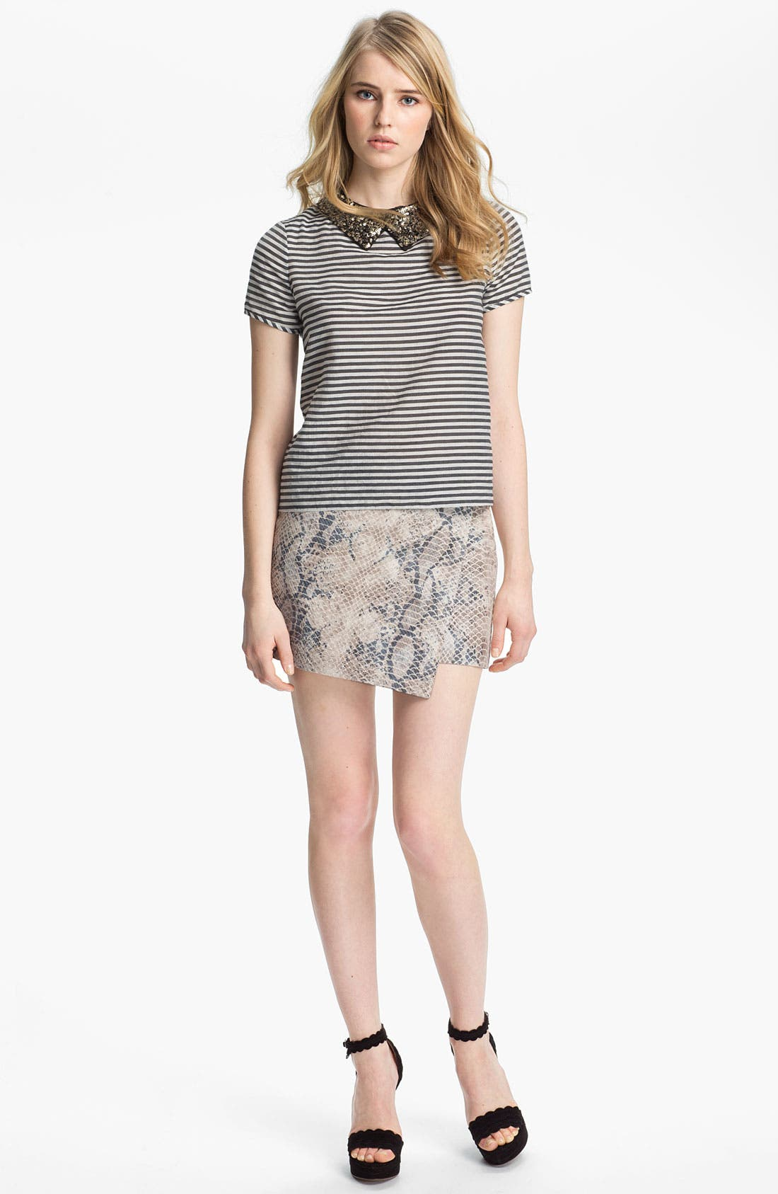 Alternate Image 2  - Gryphon Embossed Wrap Skirt