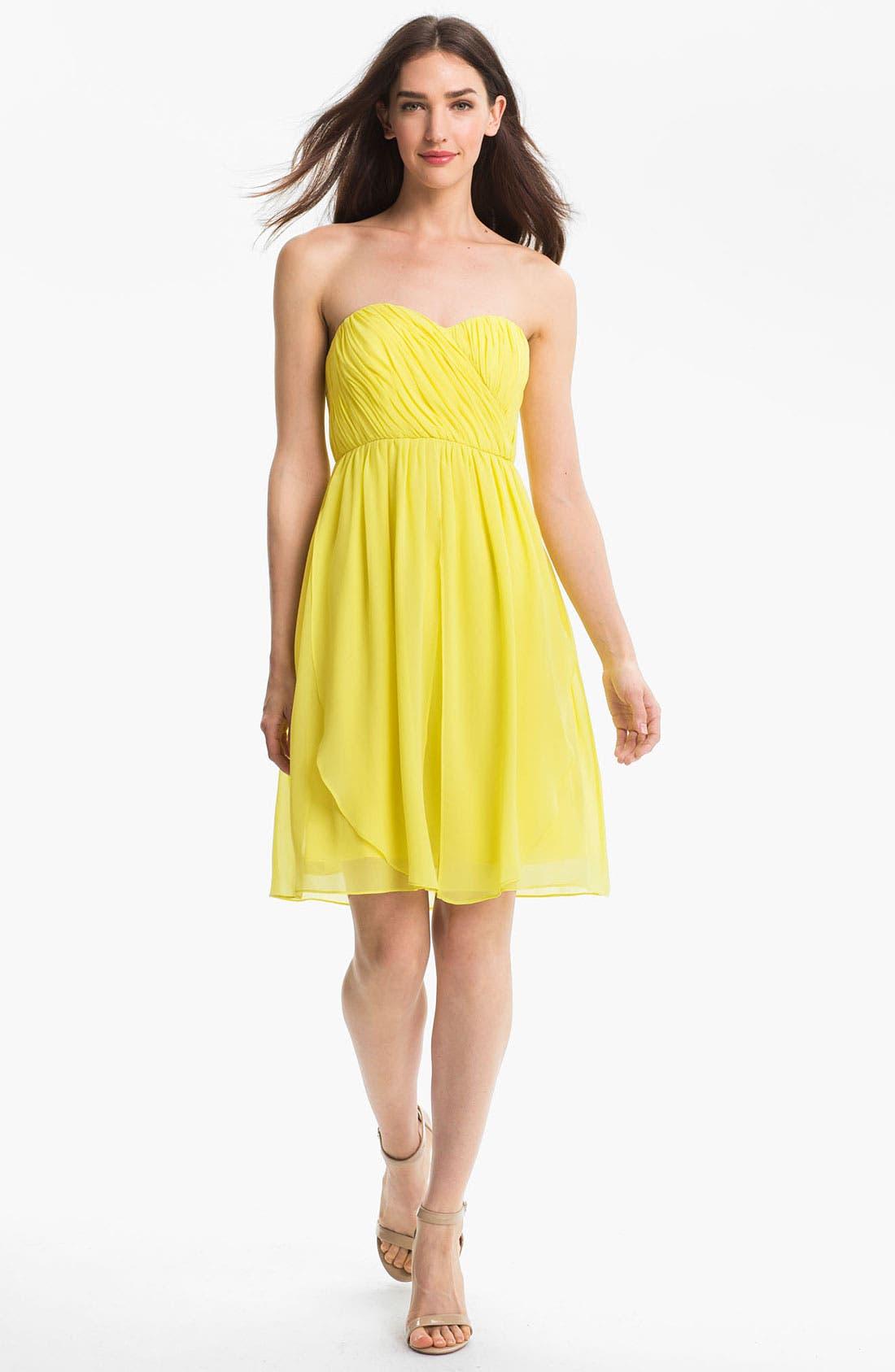 Alternate Image 1 Selected - Donna Morgan Sweetheart Chiffon Dress