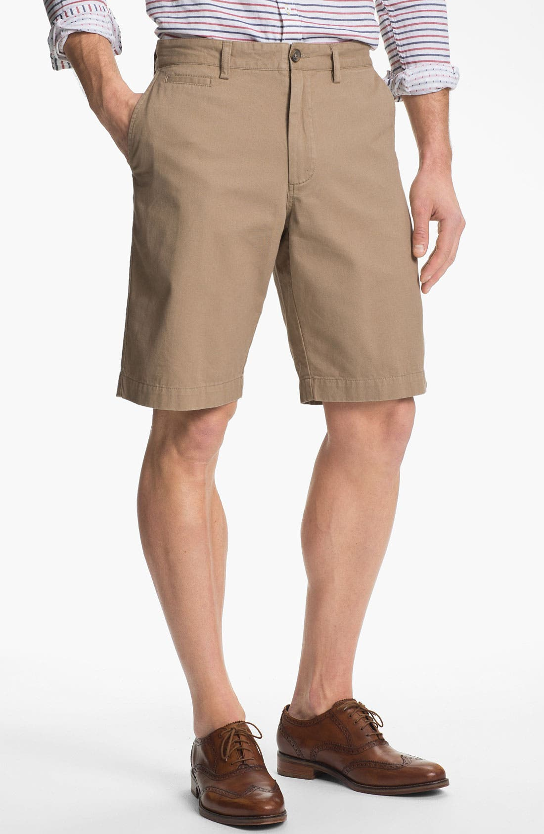 Main Image - Wallin & Bros. Flat Front Shorts