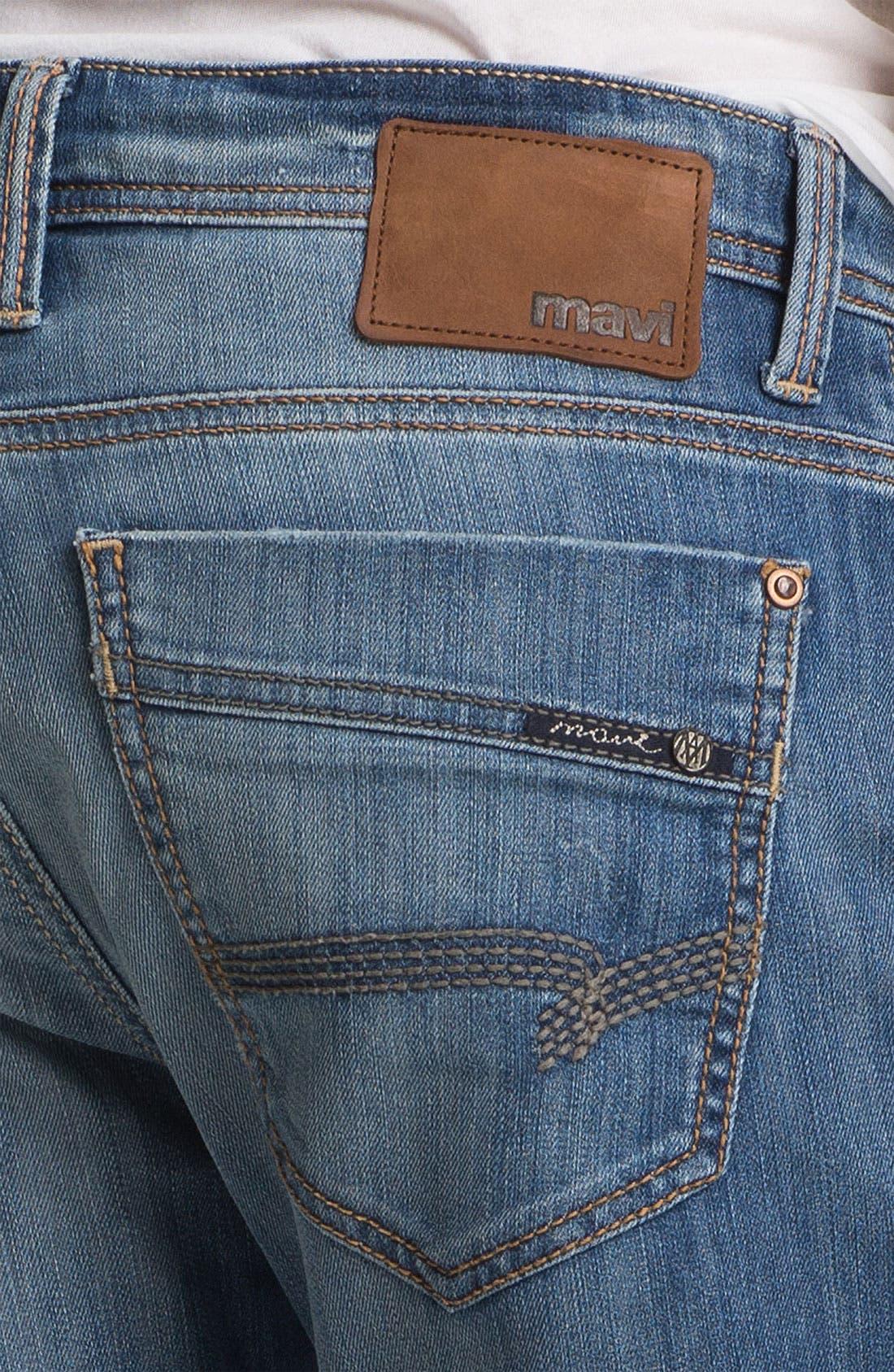 Alternate Image 4  - Mavi Jeans 'Zach' Straight Leg Jeans (Light Cooper)