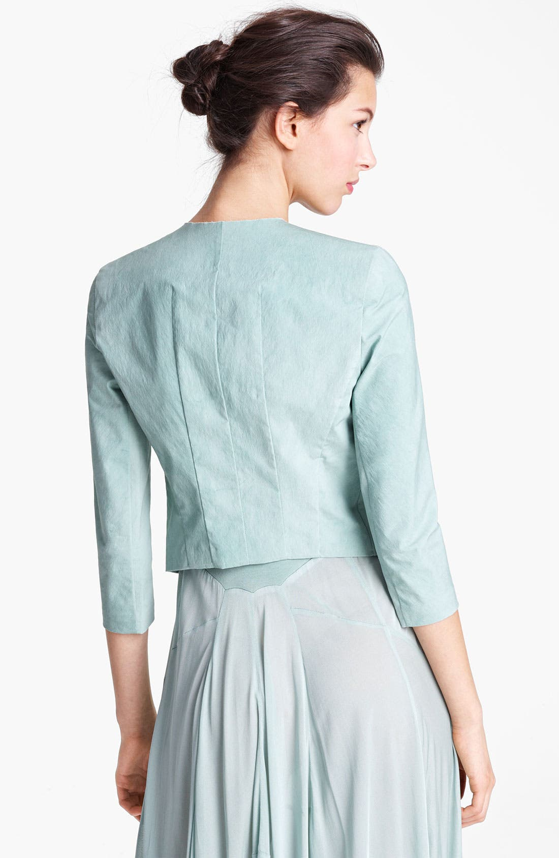 Alternate Image 3  - Donna Karan Collection Mineral Stretch Paper Jacket