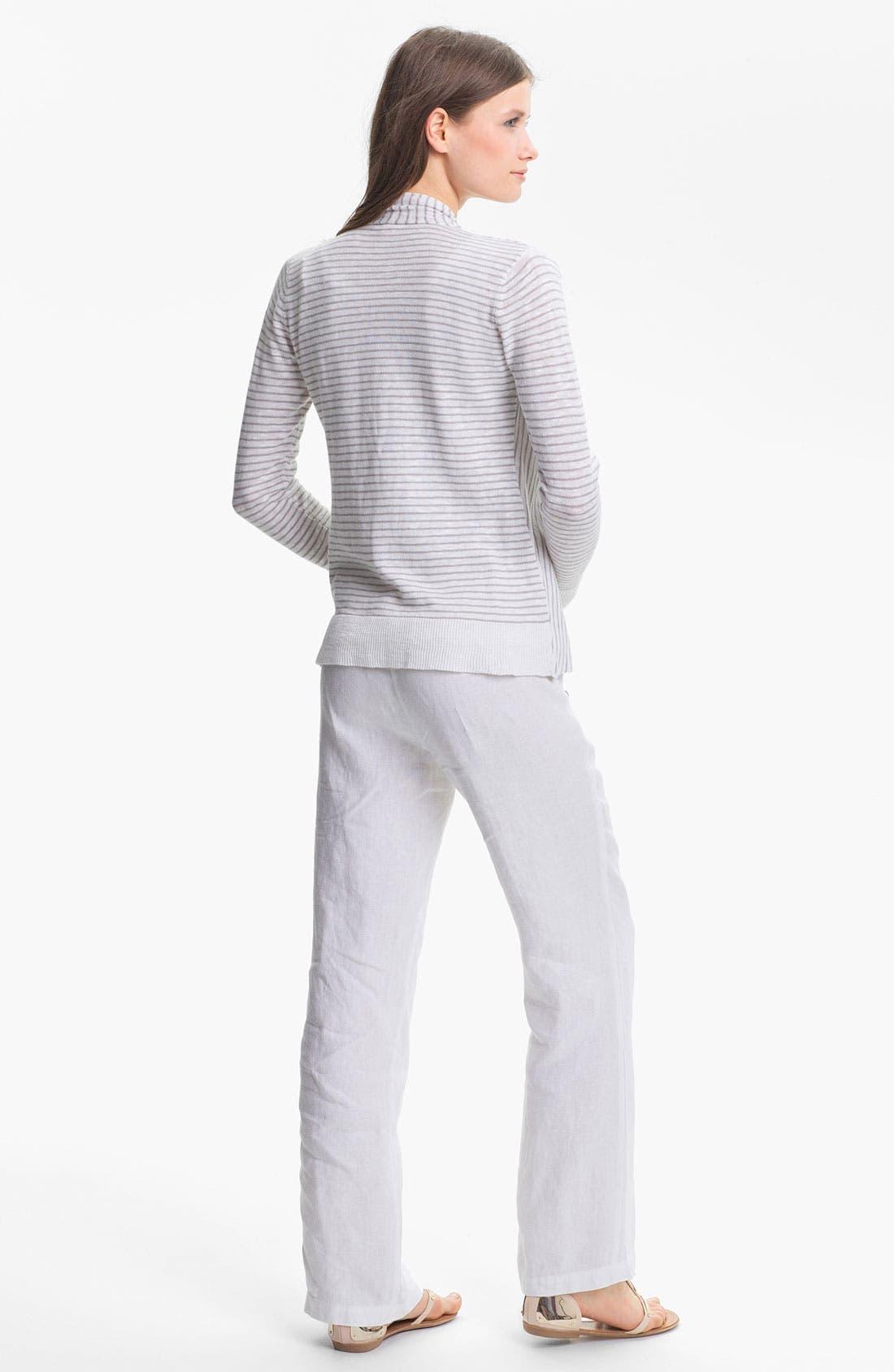 Alternate Image 5  - Eileen Fisher Straight Leg Linen Pants