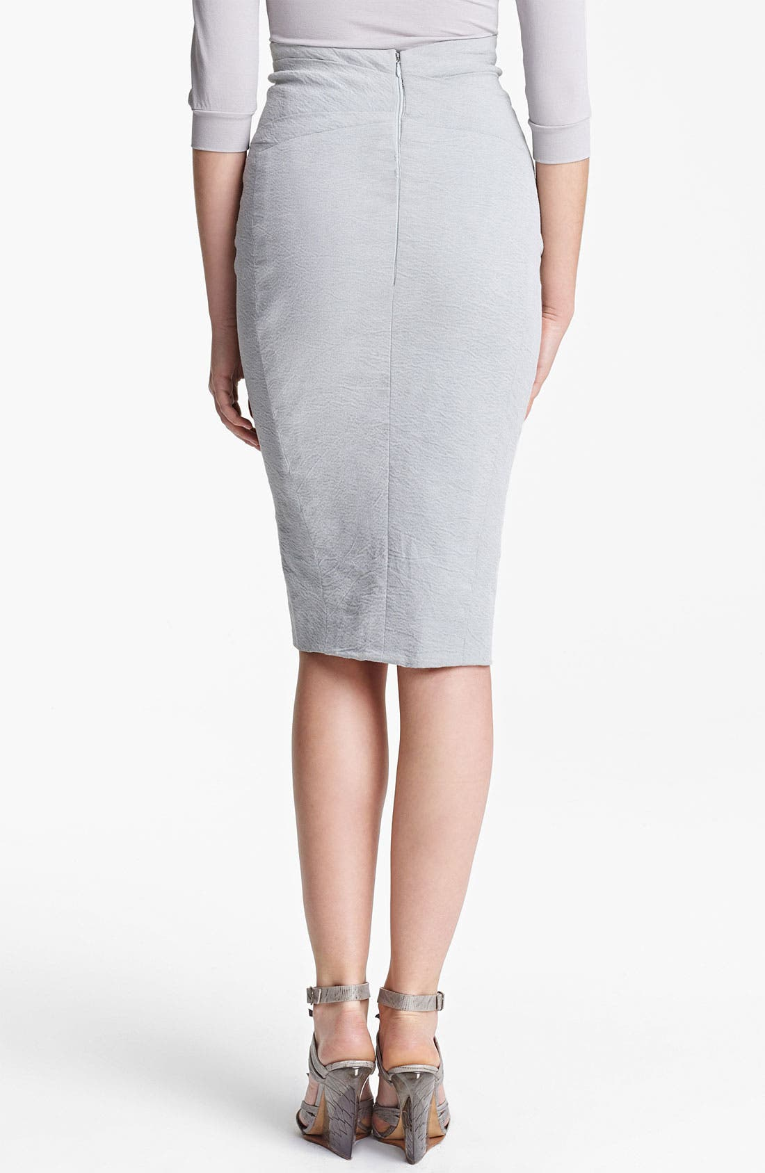 Alternate Image 2  - Donna Karan Collection Cold Dyed Stretch Canvas Skirt