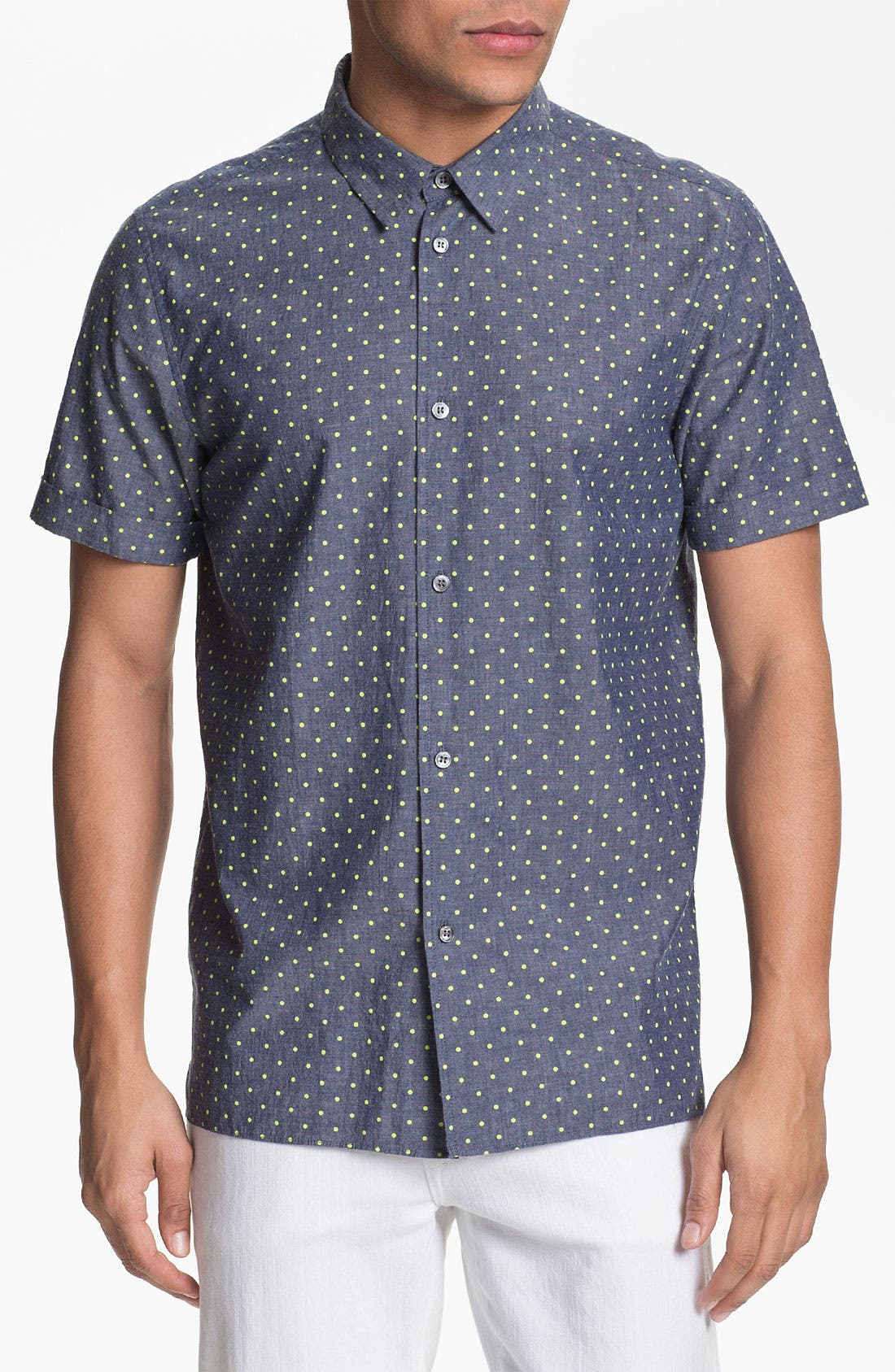 Alternate Image 1 Selected - MARC BY MARC JACOBS Dot Print Chambray Shirt