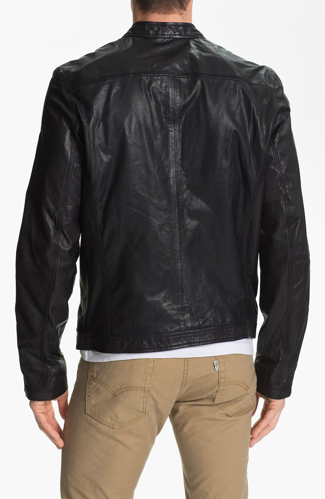 Alternate Image 2  - DIESEL® 'Lagnum' Leather Racing Jacket