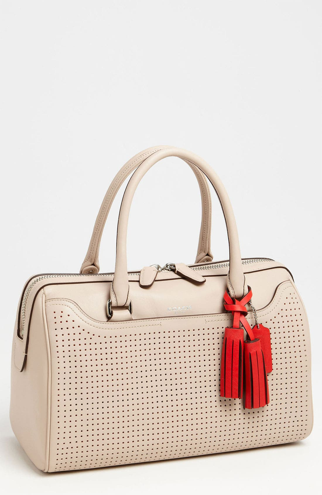 Alternate Image 1 Selected - COACH 'Legacy - Haley' Perforated Leather Satchel