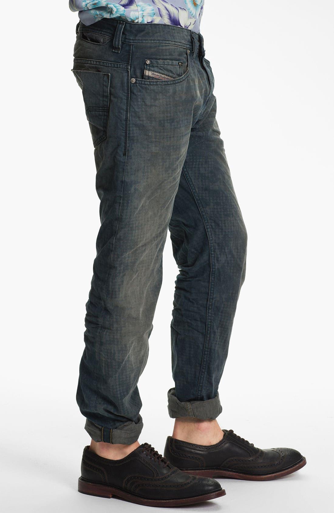 Alternate Image 3  - DIESEL® 'Safado' Straight Leg Jeans (Electric Blue)