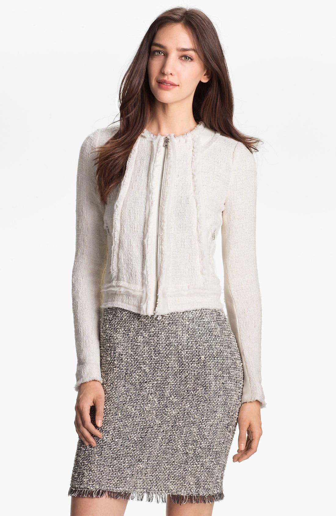 Main Image - Rebecca Taylor Crop Tweed Jacket