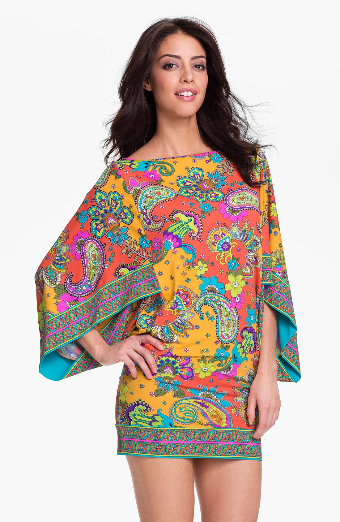 Alternate Image 1 Selected - Trina Turk 'Summer of Love' Tunic Cover-Up