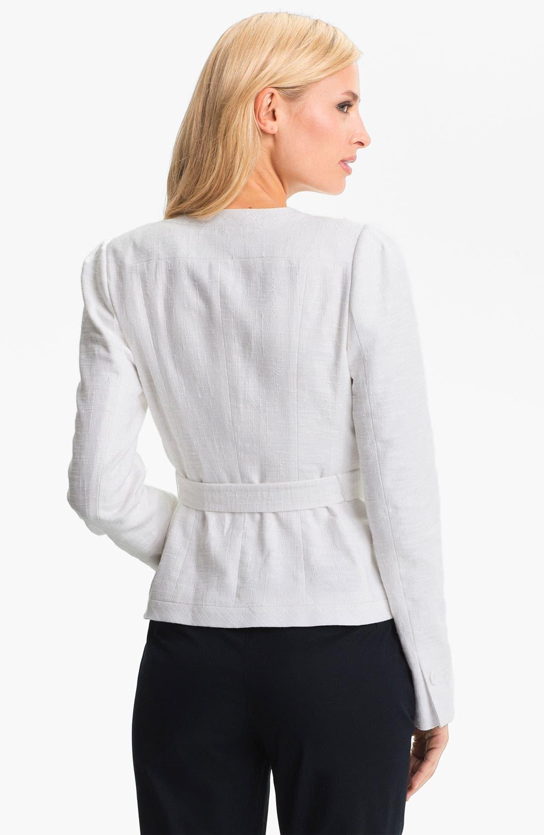Alternate Image 2  - Classiques Entier Belted Linen Jacket