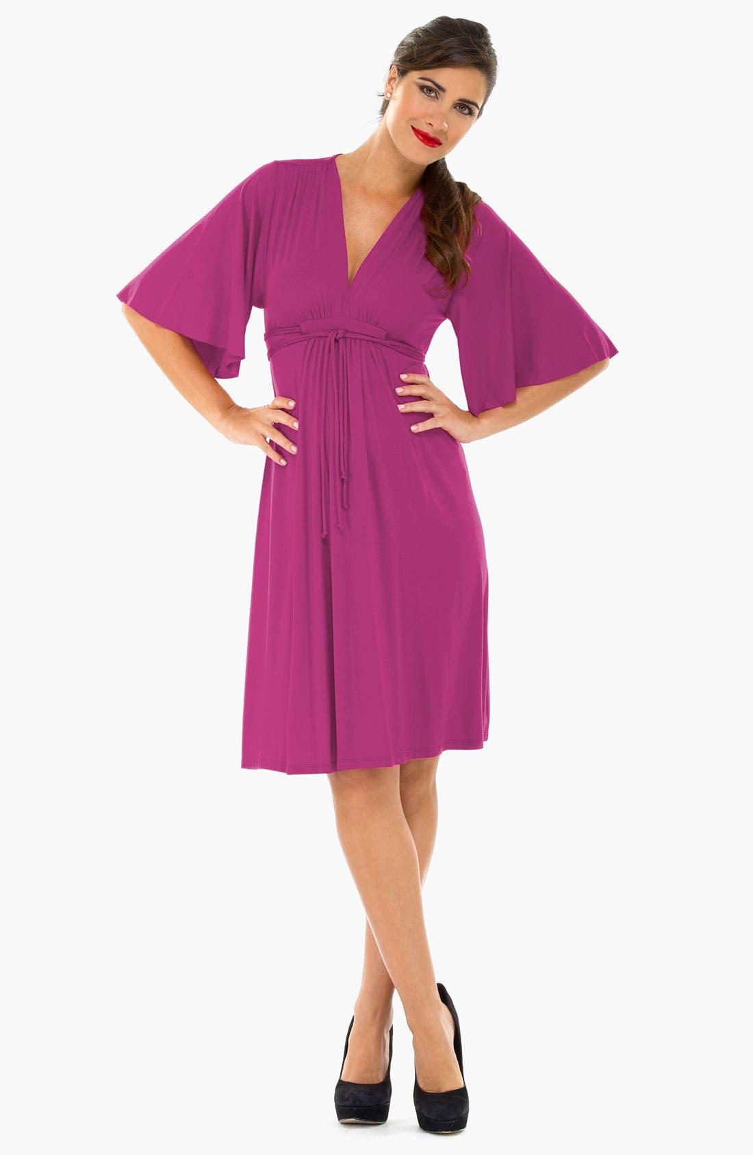Alternate Image 1 Selected - Olian Kimono Sleeve Maternity Dress