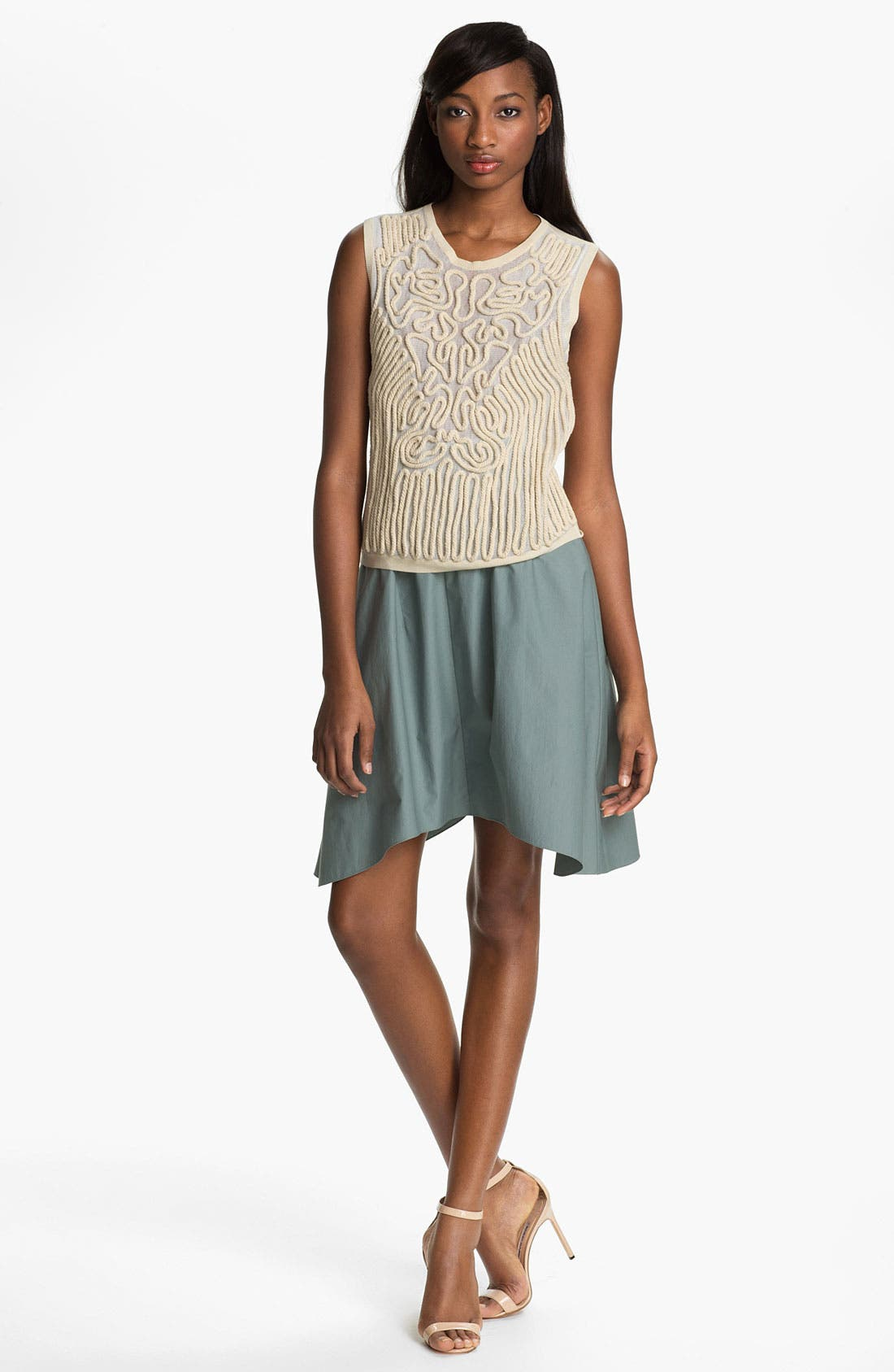 Alternate Image 1 Selected - Carven Sleeveless Embroidered Rope Sweater