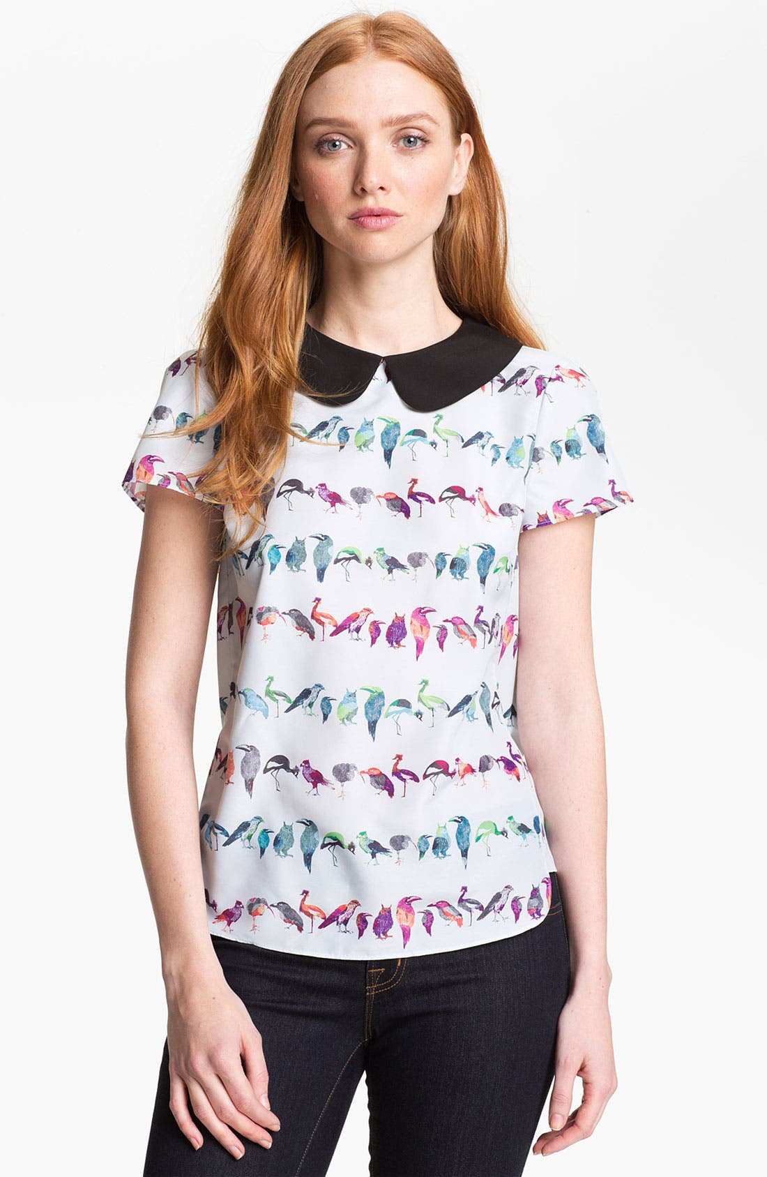 Alternate Image 1 Selected - Ted Baker London 'Tutti Frutti' Stripe Top (Online Only)