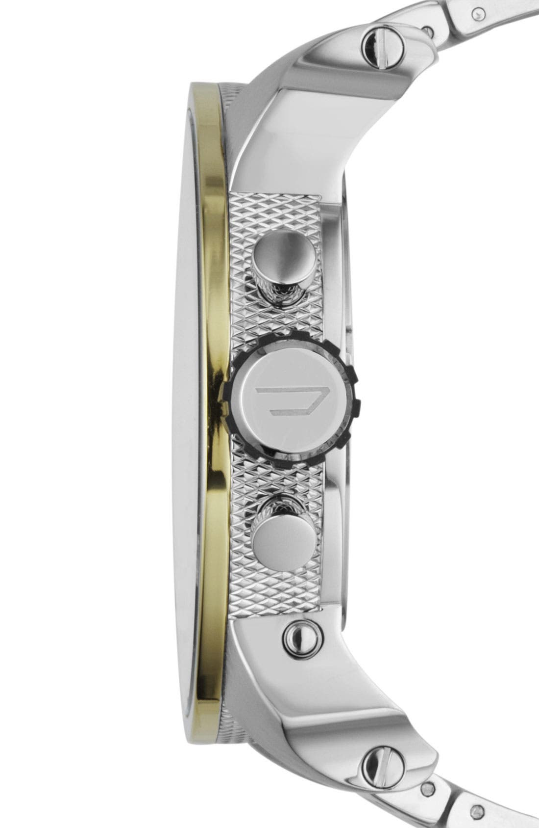Alternate Image 2  - DIESEL® 'Mr. Daddy' Bracelet Watch, 58mm