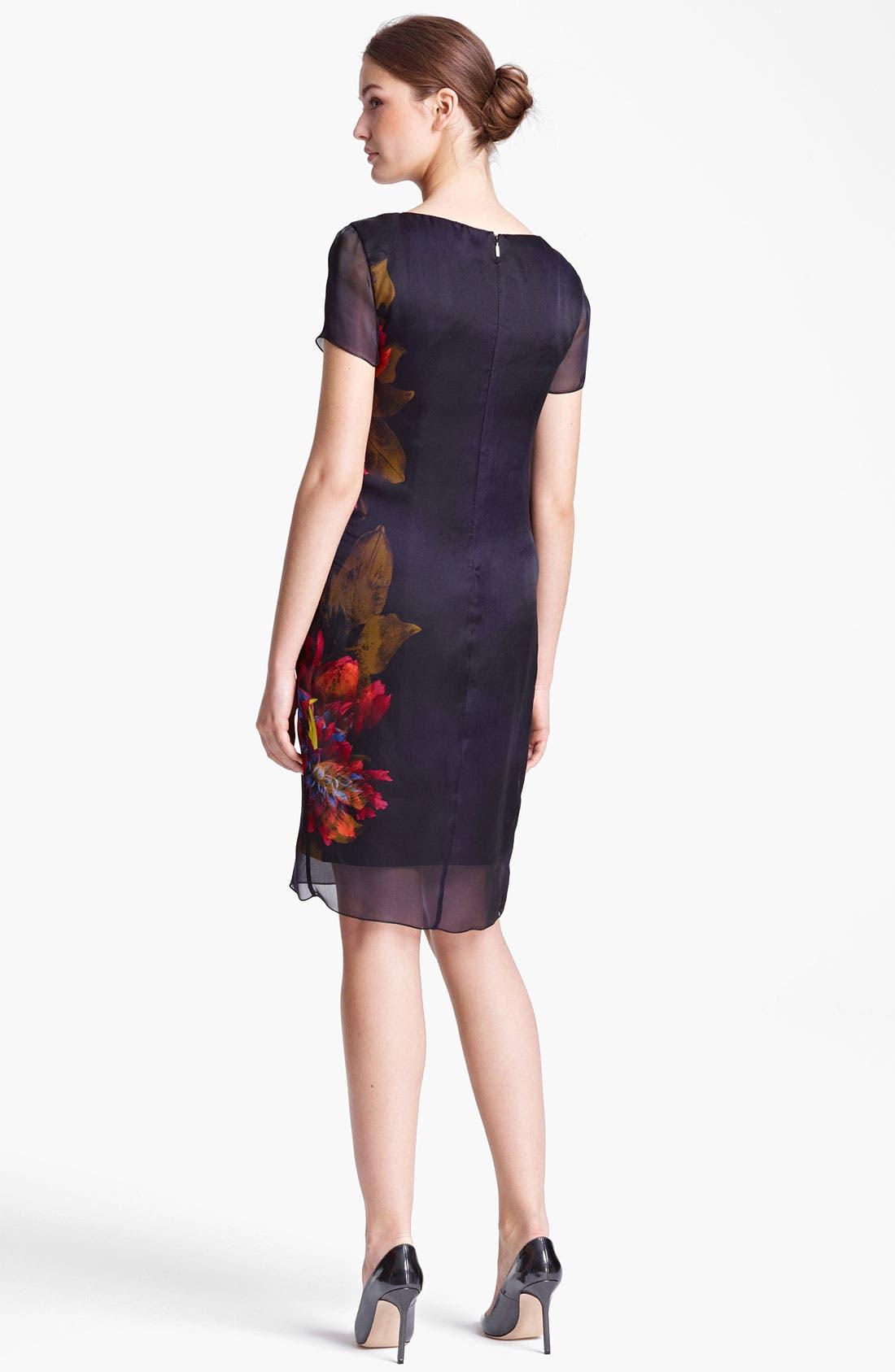 Alternate Image 2  - Max Mara 'Algusto' Print Organza Dress
