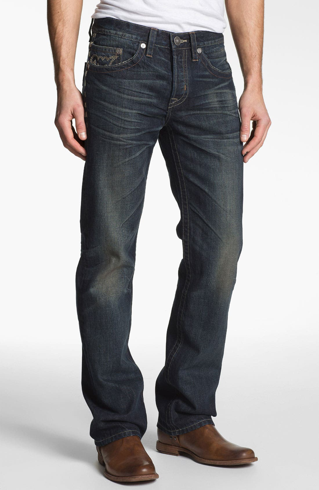 Alternate Image 2  - MEK Denim 'Calix' Straight Leg Jeans (Hash)