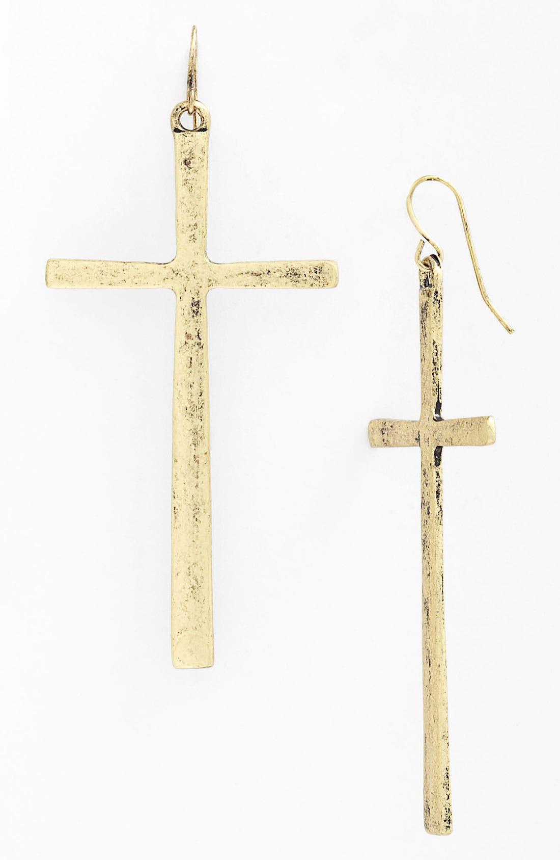 Main Image - Natasha Couture Cross Earrings