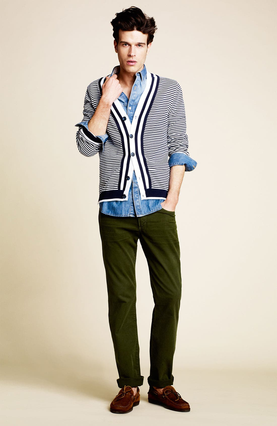 Alternate Image 4  - Brooks Brothers Supima® Cotton Cardigan