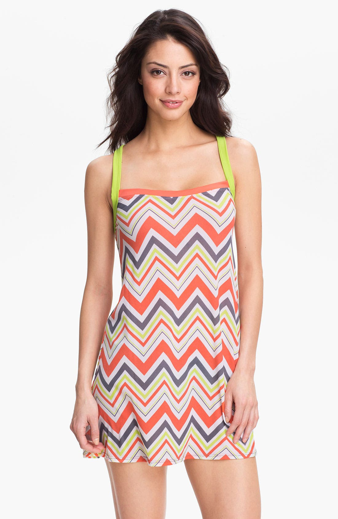 Alternate Image 3  - BCA Chevron Stripe Cover-Up Dress