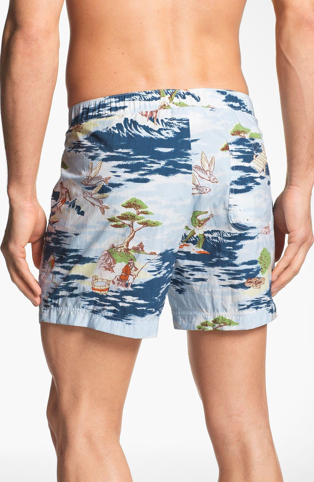 Alternate Image 2  - Lacoste L!VE Print Swim Trunks