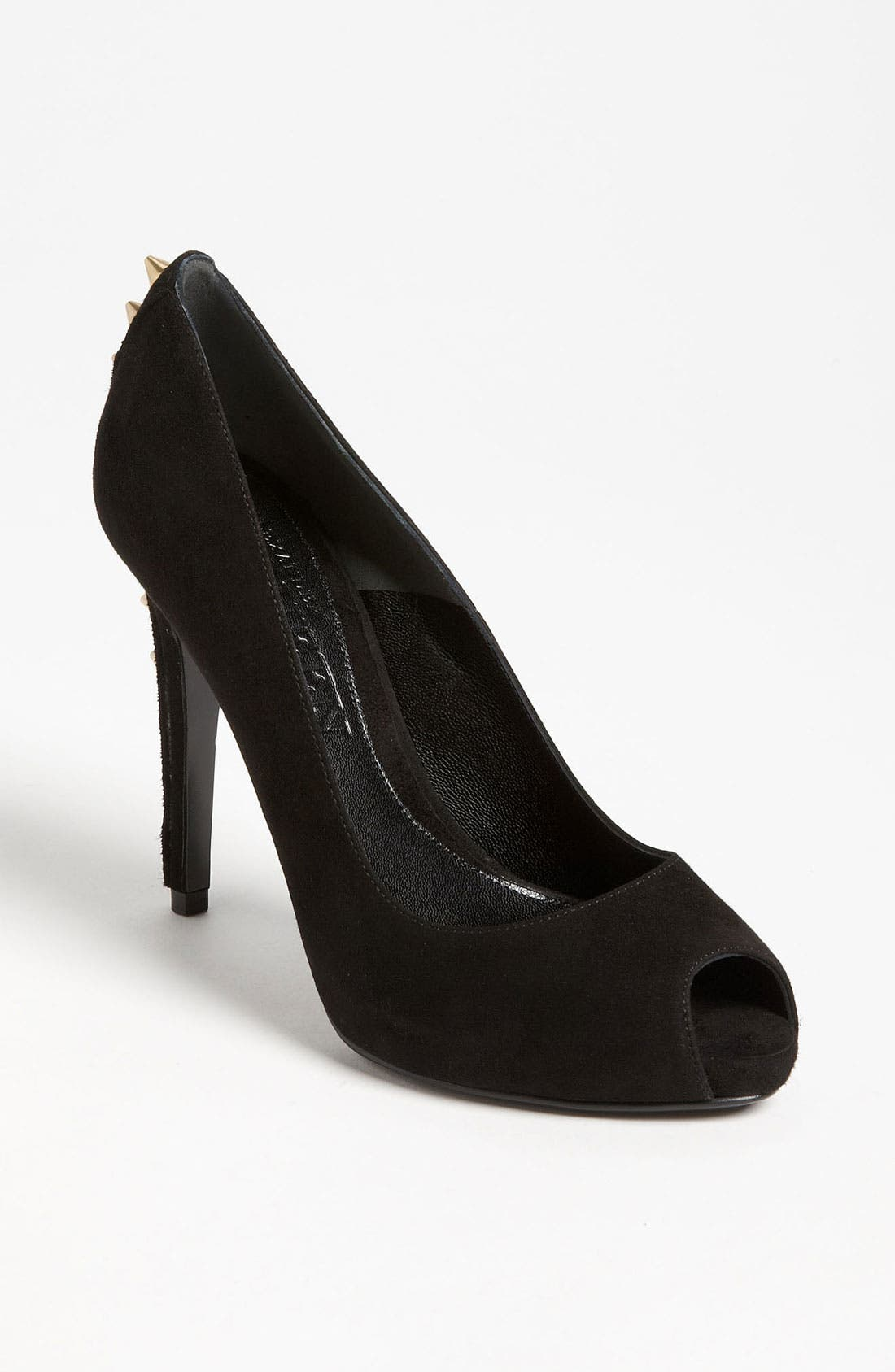 Alternate Image 1 Selected - Alexander McQueen Spike Heel Peep Toe Pump