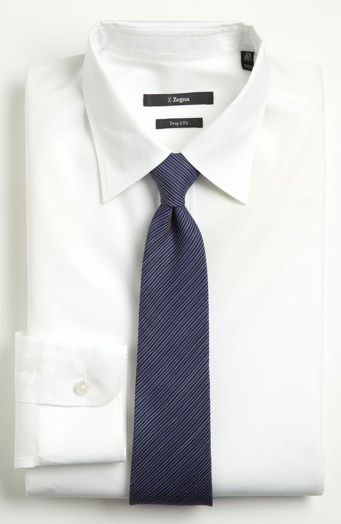 Alternate Image 2  - Z Zegna Stripe Woven Silk Tie