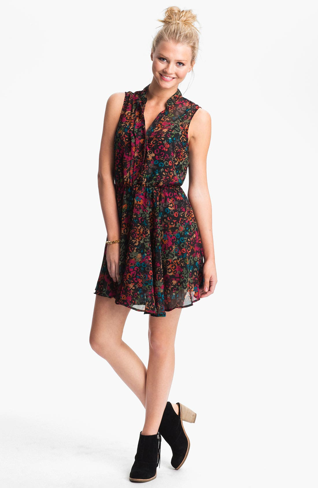 Alternate Image 1 Selected - Mimi Chica Sleeveless Surplice Dress (Juniors)