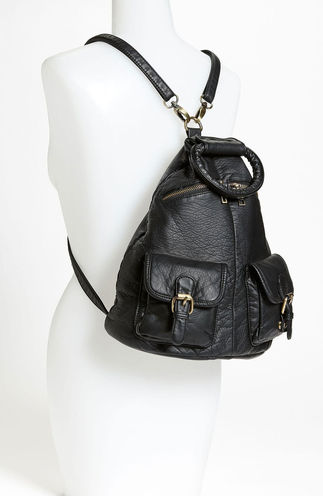 Alternate Image 2  - Cesca Faux Leather Backpack