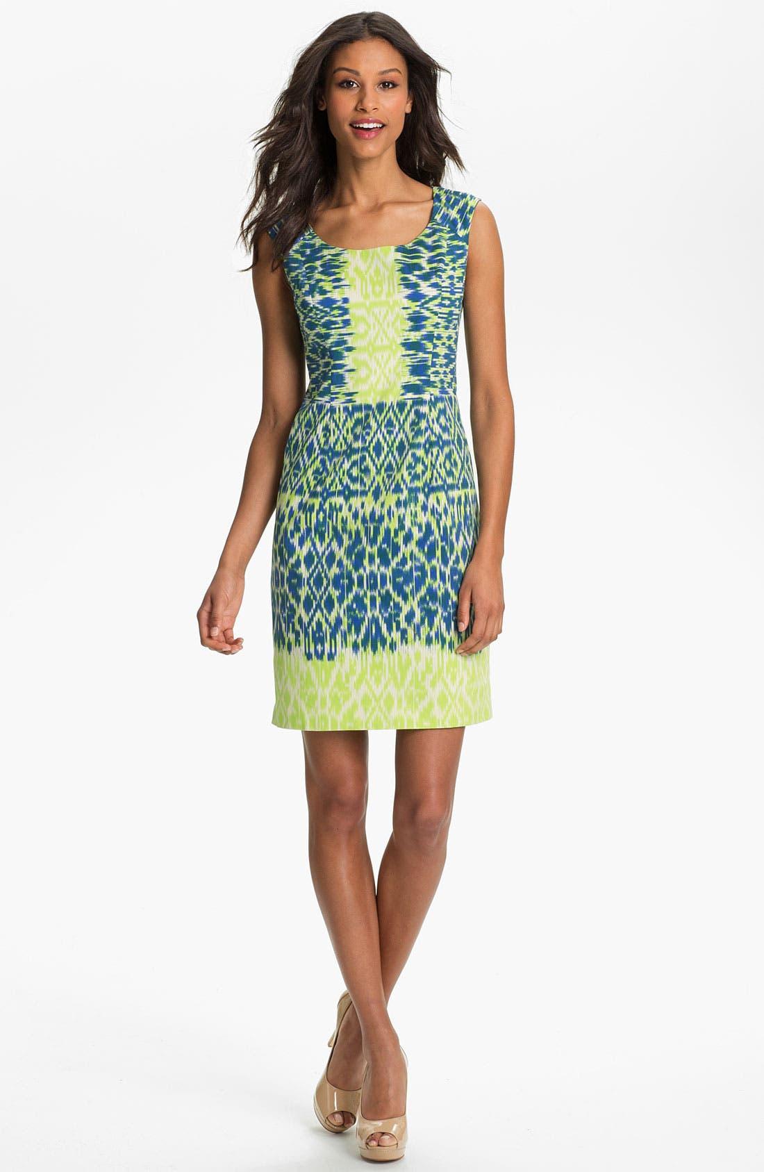 Alternate Image 1 Selected - Adrianna Papell Ikat Print Sheath Dress