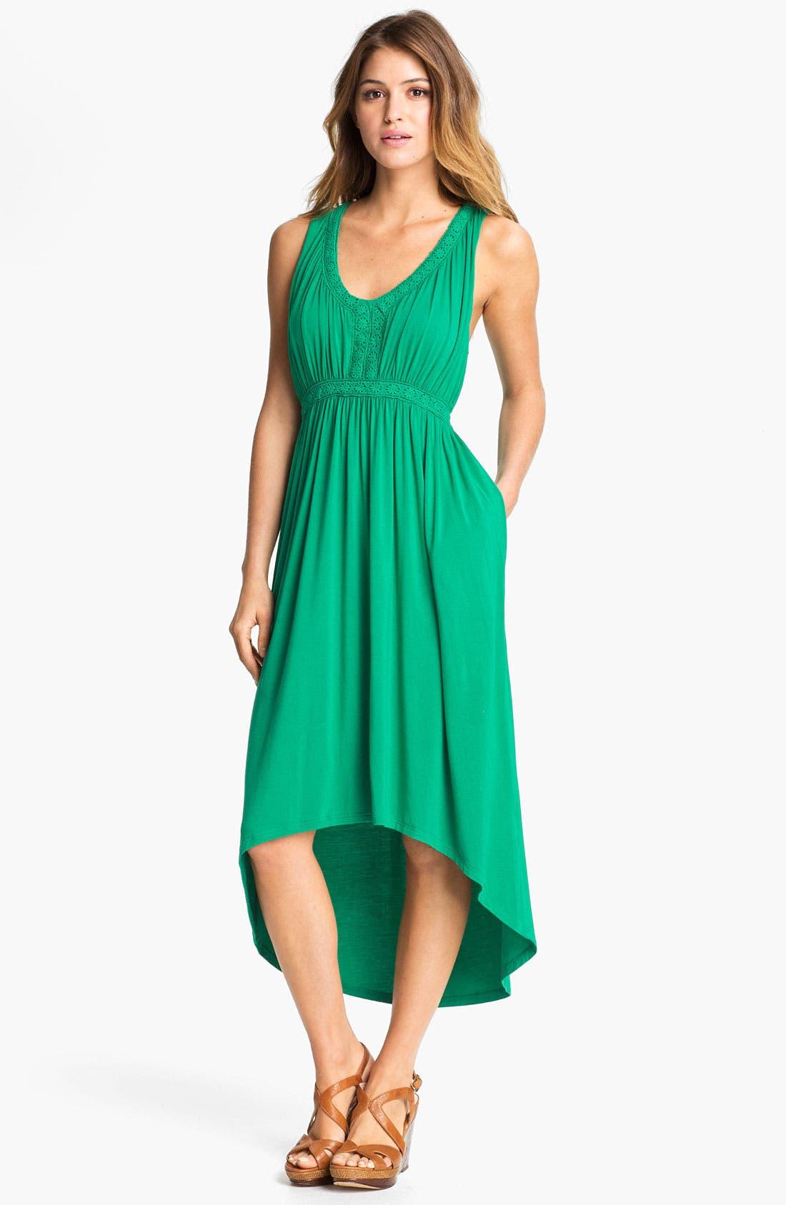 Main Image - Press Crochet Trim Dress